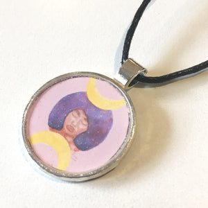 Moon Goddess 25 mm/1 inch Art Pendant - Morgan Cerese Art