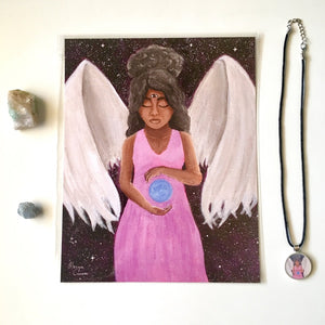 Angelic Clarity Crystal & Art Bundle - Morgan Cerese Art
