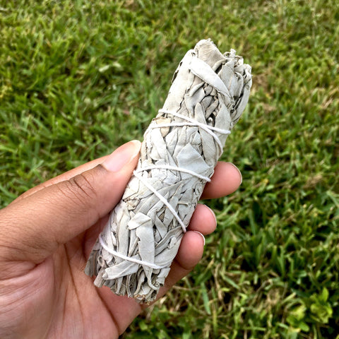 White Sage Stick - 4 Inch Wand - Morgan Cerese Art x Crystal Gem Shop