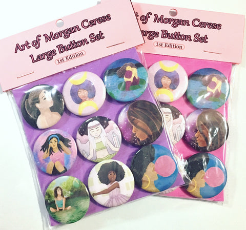 Art of Morgan Cerese Large Button Set - 1st Edition - Morgan Cerese Art