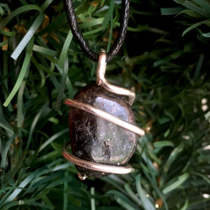 Tumbled Rhodonite Wire Wrapped Pendant
