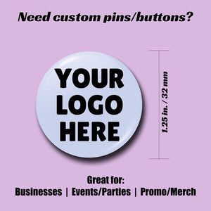 Wholesale Custom Round 1.25 inch Pin-back Buttons - Morgan Cerese Art