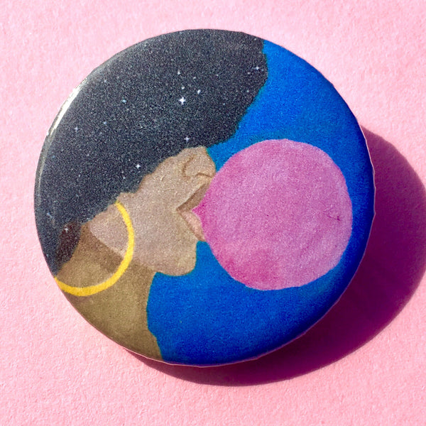 Afro Pop Pin-back Button