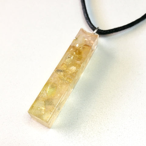 Tumbled Citrine Resin Pendant