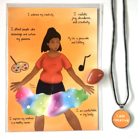 Sacral Chakra Crystal & Art Bundle - Morgan Cerese Art