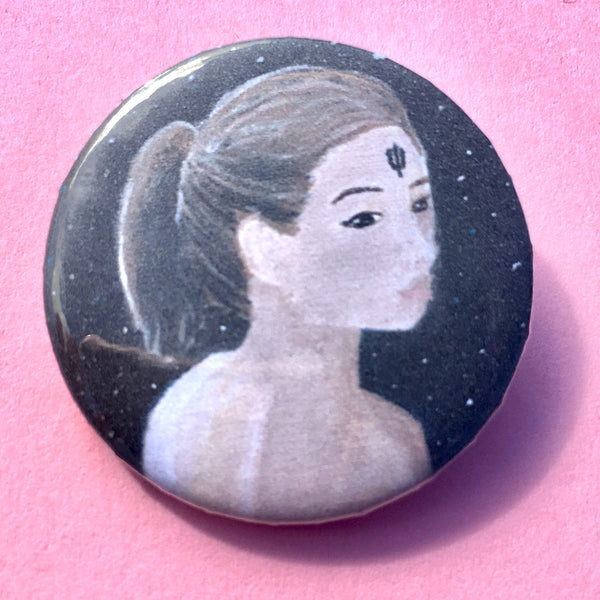 Lady Neptune Pin-back Button - Morgan Cerese Art