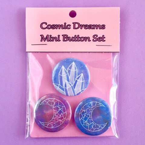 Cosmic Dreams Mini Button Set - Morgan Cerese Art