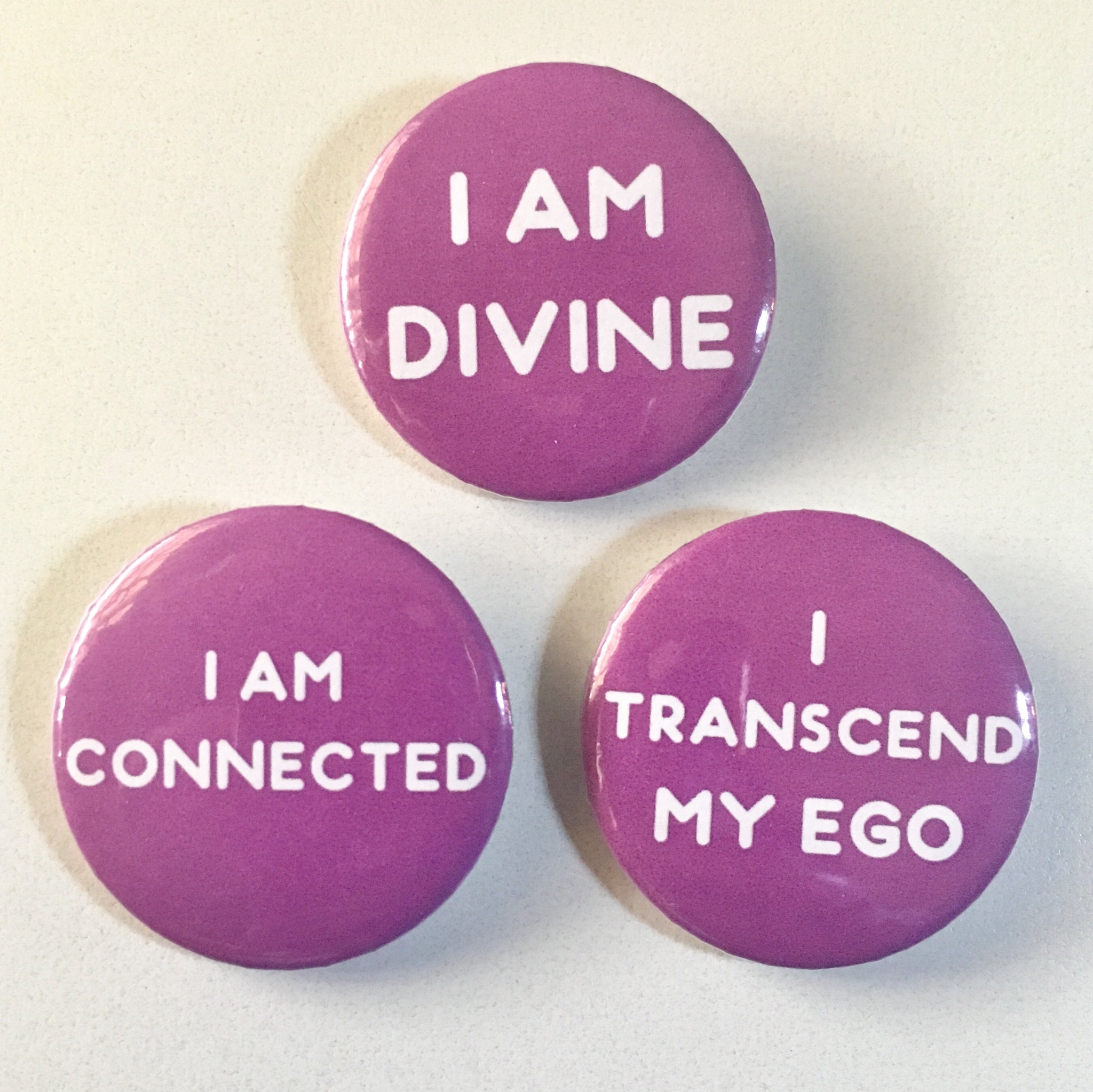 Crown Chakra Affirmation Pin-back Button