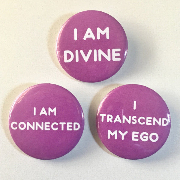 Crown Chakra Affirmation Pin-back Button - Morgan Cerese Art