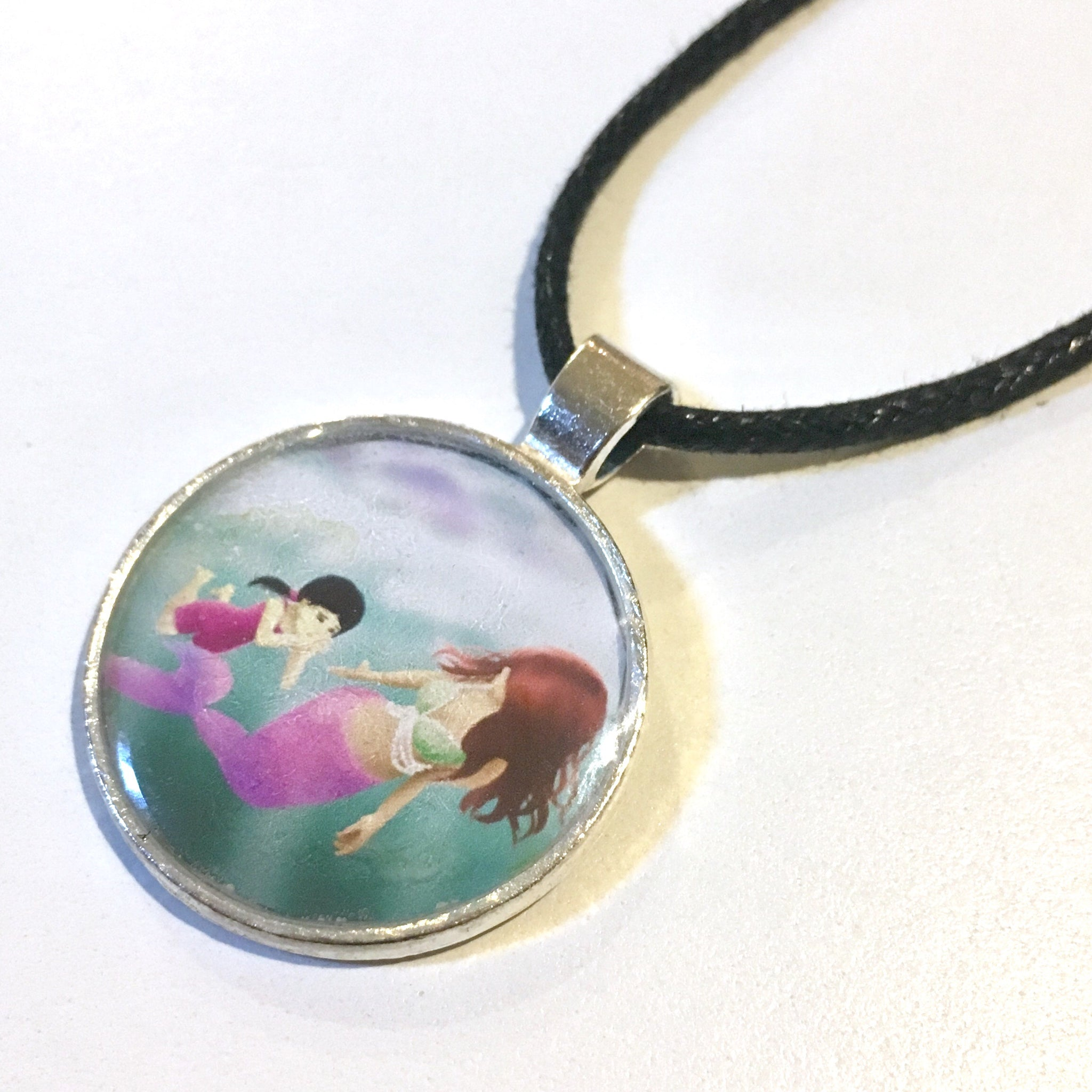 Swimming Lesson 25 mm/1 inch Art Pendant - Morgan Cerese Art