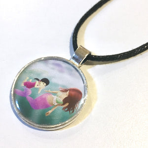 Swimming Lesson 25 mm/1 inch Art Pendant