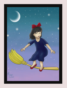 "Little Witch 5""x7"" Print - Morgan Cerese Art"