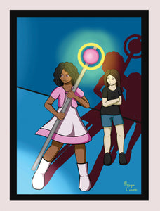 "I've Got Your Back (Magical Girl Escort) 5""x7"" Print"