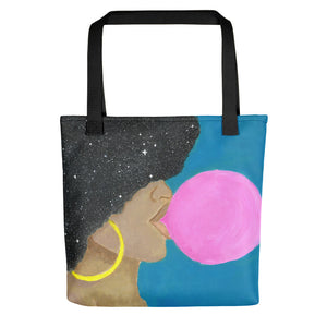 "Afro Pop 15"" x 15"" Tote bag - Morgan Cerese Art"