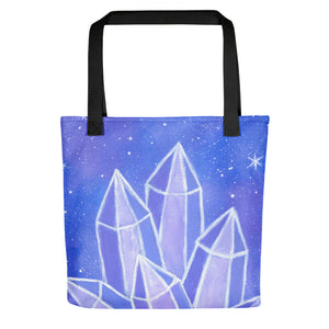 "Crystalline Growth 15"" x 15"" Tote Bag - Morgan Cerese Art"