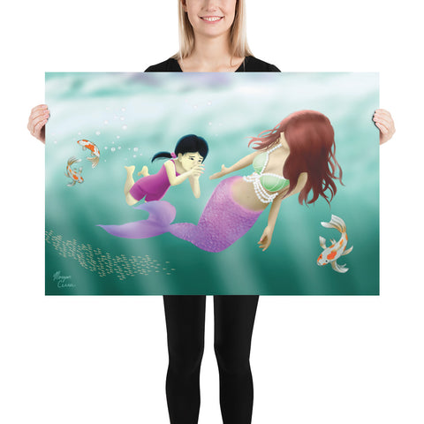 Swimming Lesson Photo Paper Poster