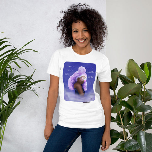 Third Eye Chakra - Ajna - Healing Affirmation Short-Sleeve Unisex T-Shirt - Morgan Cerese Art