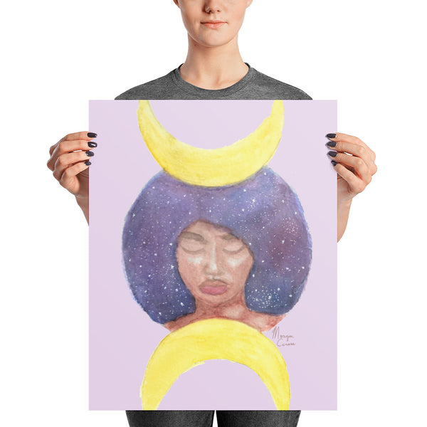 Moon Goddess Photo Paper Poster