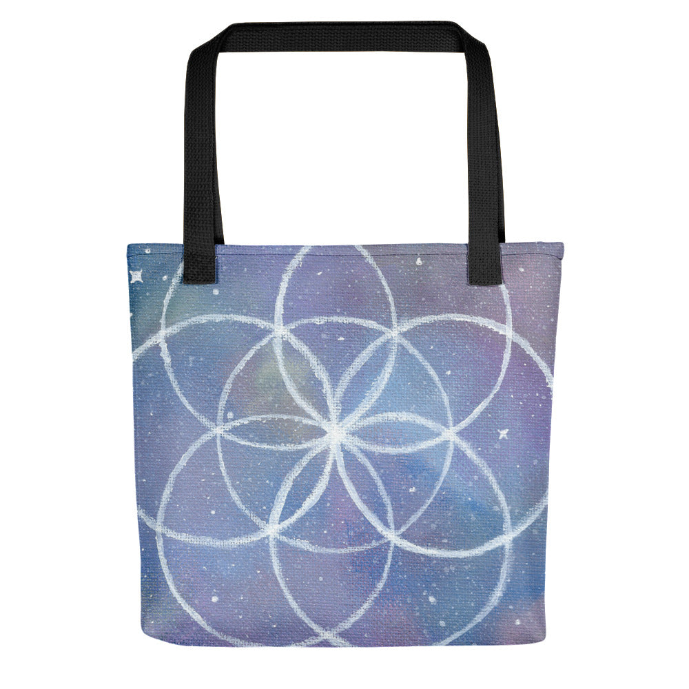 "Seed of Life 15"" x 15"" Tote bag"