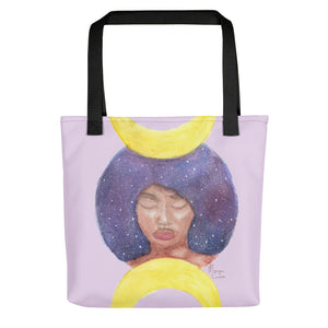 "Moon Goddess 15"" x 15"" Tote Bag - Morgan Cerese Art"