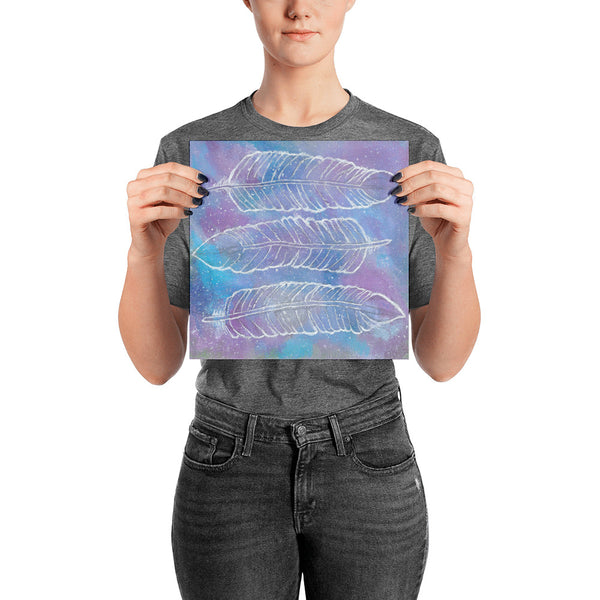 Cosmic Feathers Photo Paper Poster