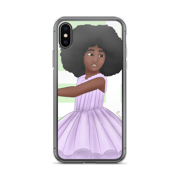 Afro Ballerina iPhone Case - Morgan Cerese Art