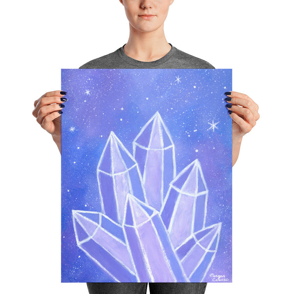 Crystalline Growth Photo Paper Poster