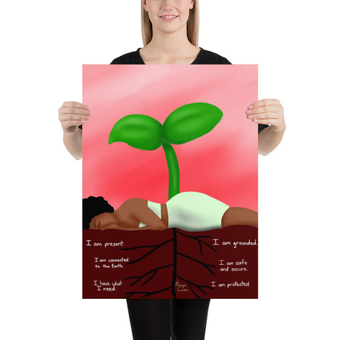 Root Chakra Large Matte Paper Poster - Morgan Cerese Art