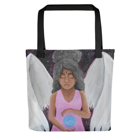 "Angel of Clarity 15""x15"" Tote bag"