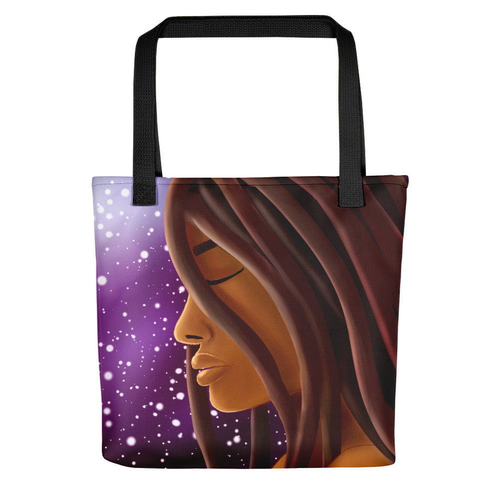 "Cosmic Witch 15"" x 15"" Tote Bag - Morgan Cerese Art"