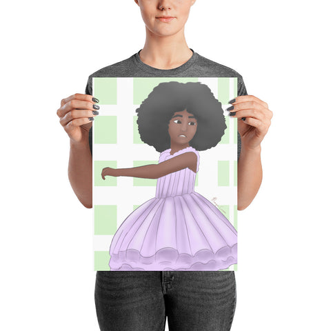 Afro Ballerina Photo Paper Poster