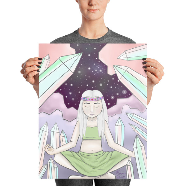 Crystal Witch Photo Paper Poster - Morgan Cerese Art