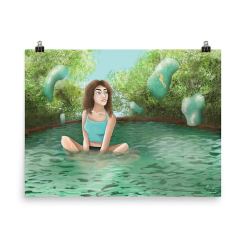 Modern Water Nymph Photo Paper Poster - Morgan Cerese Art