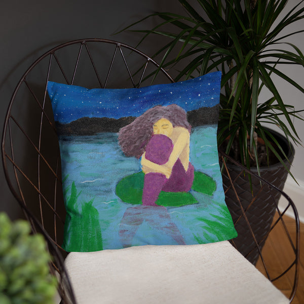 "The Lost Mermaid 18""x18"" Square Pillow"