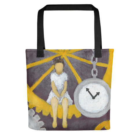 "Gears of Time 15"" x 15"" Tote Bag - Morgan Cerese Art"