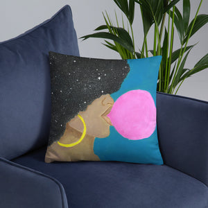 "Afro Pop 18""x18"" Square Pillow - Morgan Cerese Art"