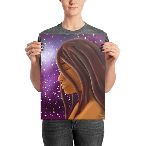 Cosmic Witch Photo Paper Poster - Morgan Cerese Art