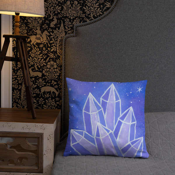 "Crystalline Growth 18""x18"" Square Pillow"