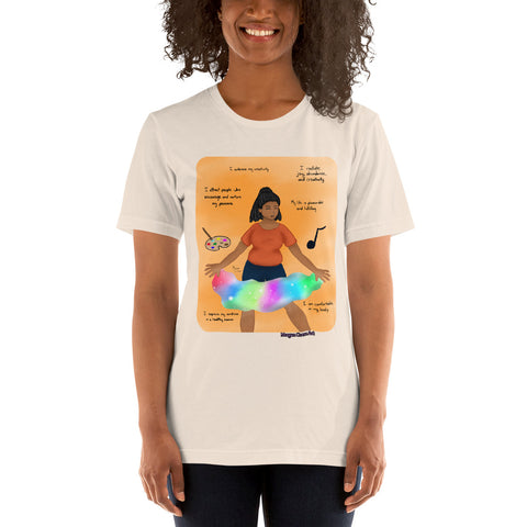 Sacral Chakra - Svadhisthana - Healing Affirmation Short-Sleeve Unisex T-Shirt - Morgan Cerese Art