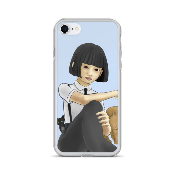 Nekohime (Cat Princess) iPhone Case - Morgan Cerese Art