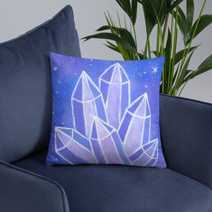 "Crystalline Growth 18""x18"" Square Pillow - Morgan Cerese Art"