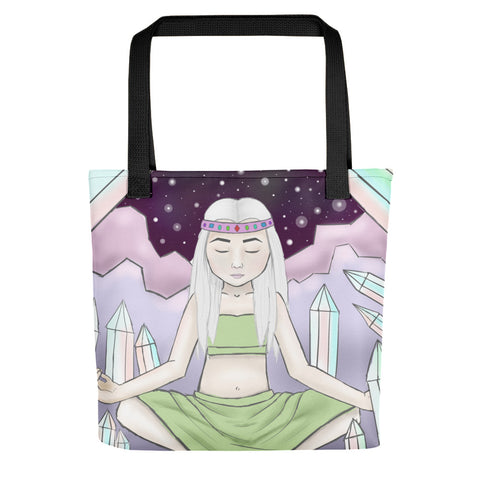 "Crystal Witch 15"" x 15"" Tote Bag - Morgan Cerese Art"