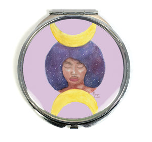 Moon Goddess Compact Mirror - Morgan Cerese Art