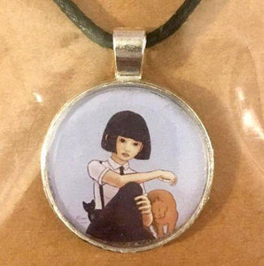 Nekohime (Cat Princess) 25 mm/1 inch Art Pendant