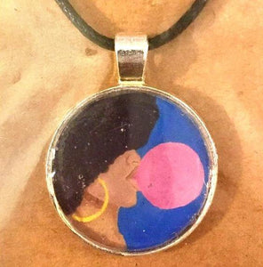 Afro Pop 25 mm/1 inch Art Pendant