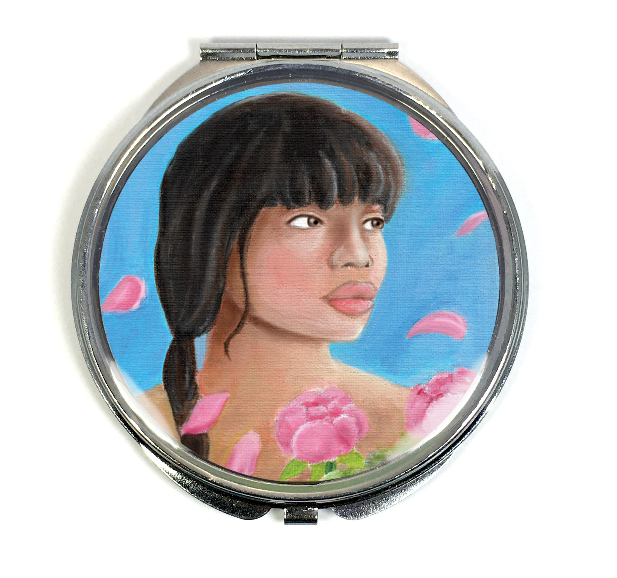 Pink Elegance Compact Mirror