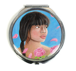 Pink Elegance Compact Mirror - Morgan Cerese Art