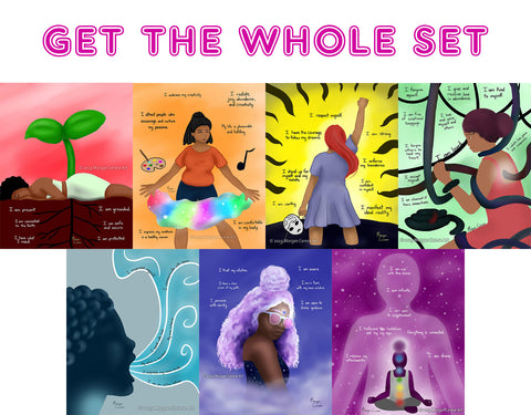 The Chakra Series Art Print Set - Morgan Cerese Art