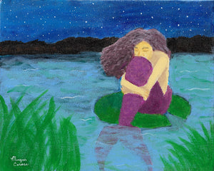 """The Lost Mermaid"" Acrylic Painting - 8x10 inches - Morgan Cerese Art"