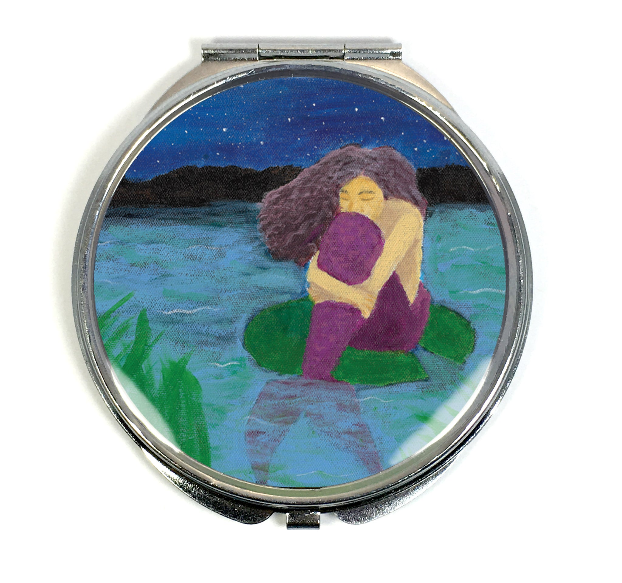 The Lost Mermaid Compact Mirror - Morgan Cerese Art